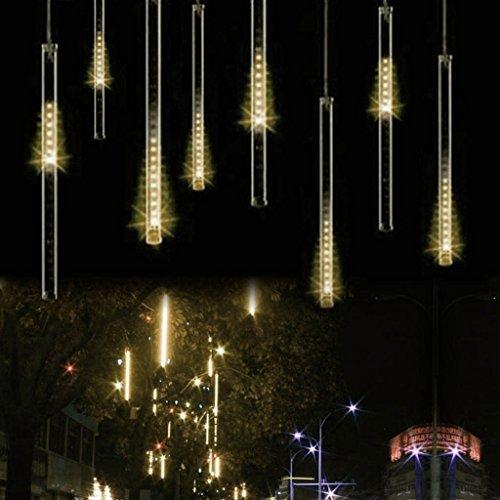 BIENNA LEDイルミネーションライト 流星雨型 LEDツララスティックライト 電源プラグ式 電飾 ツリー飾り LEDストリングライト 室外 庭 クリスマス 学園祭 祝日 結婚式 パーティ 30CM/本 8本セット 光が流れる 防水