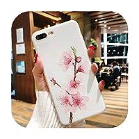 ファッション花電話ケースiphone XS XR XS最大X 8 7 6 6 sプラス5 5 sマットソフトTPU花電話バックカバーCoqueギフト-e-For iPhone XS Max