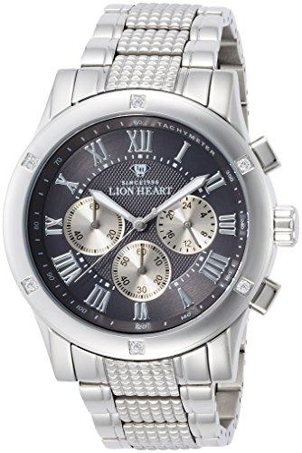 [ライオンハート]Lion Heart 腕時計 W101 ステンレススチール グレー文字盤 クロノグラフ クォーツ 日常生活防水 LHW101SGY メンズ 腕時計