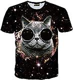 (ピゾフ)Pizoff メンズ Tシャツ 半袖 おもしろ 3Dプリント 猫柄 立体的 カジュアル トップスY1730-Q8-M
