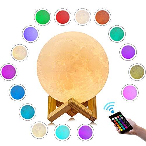 月のランプ GDREAMT 18センチ 3DプリントLED月...