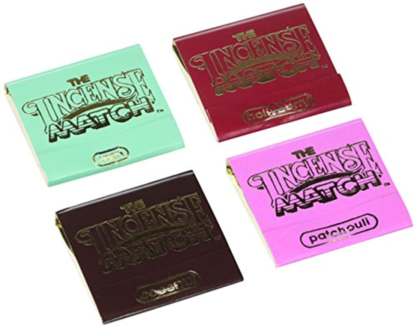 見物人格納持つThe Incense Match Assorted 4 Pack by The Incense Match
