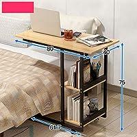 DUXX ベッドサイドラップトップデスク、リムーバブルベッドルームリビングルーム小さなコーヒーテーブルのベッドサイドテーブルソファサイドキャビネット コンピュータースタンド (色 : 4, サイズ さいず : 80*40*75cm)
