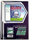 ゴルフコンペ用フラッグ 5回使用出来るラベル付 ニアピン専用ボール絵 2本入り