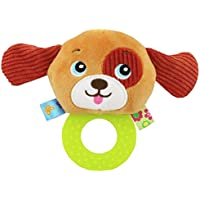 ylluckソフトRattle Teethingおもちゃ、子供ベビー乳児Puppy Plush Soft Rattle Teething Toy