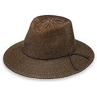 Wallaroo Women's Victoria Fedora Sun Hat - 100% Poly-Straw - UPF50+ (Suede)