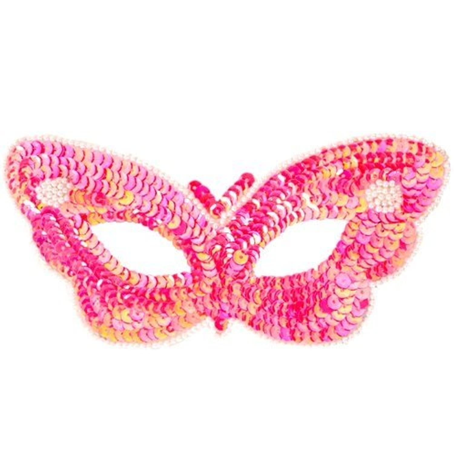 Fun Party Toy - Sequin Butterfly Eye Mask (hot pink)