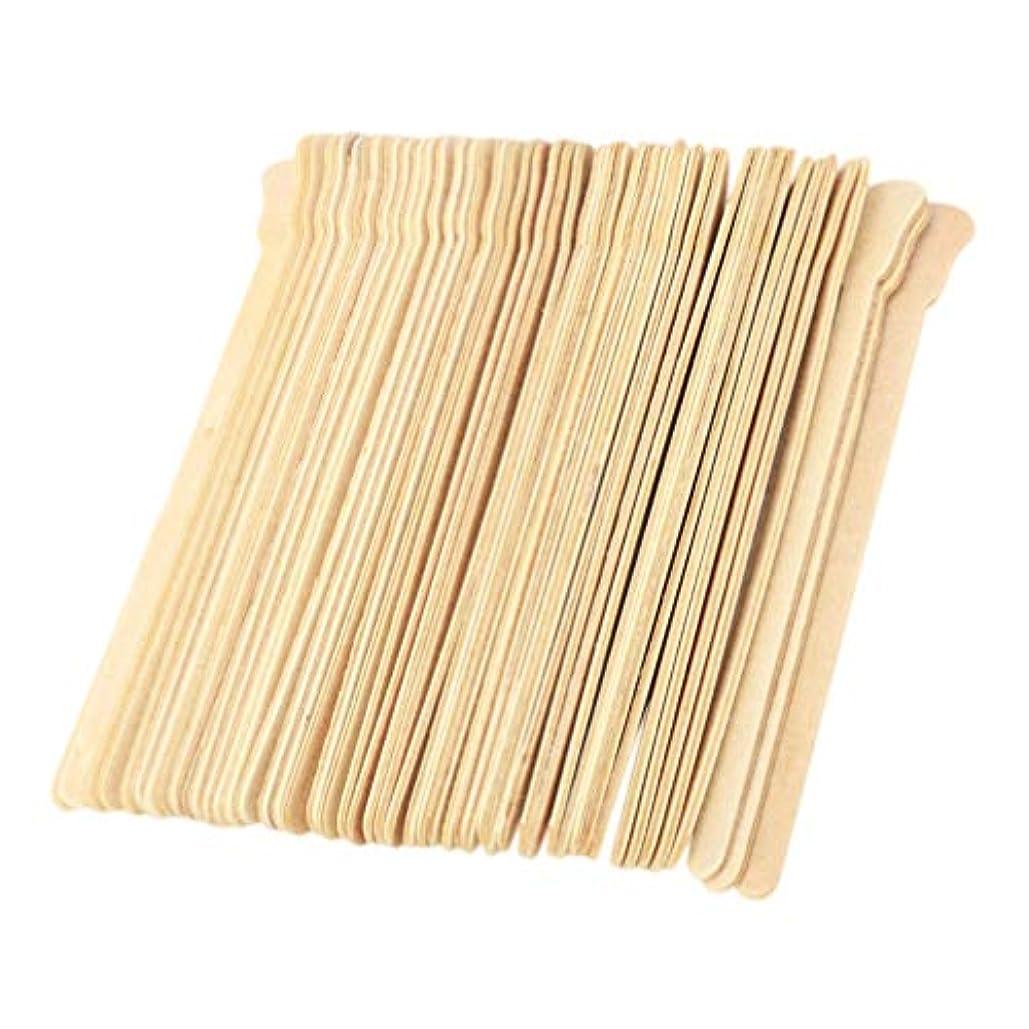 全くじゃがいも乗算STOBOK 100本ワックスは使い捨てワックスヘラに学生の女の子の女性のための木製ワックスアプリケータースティックスティック