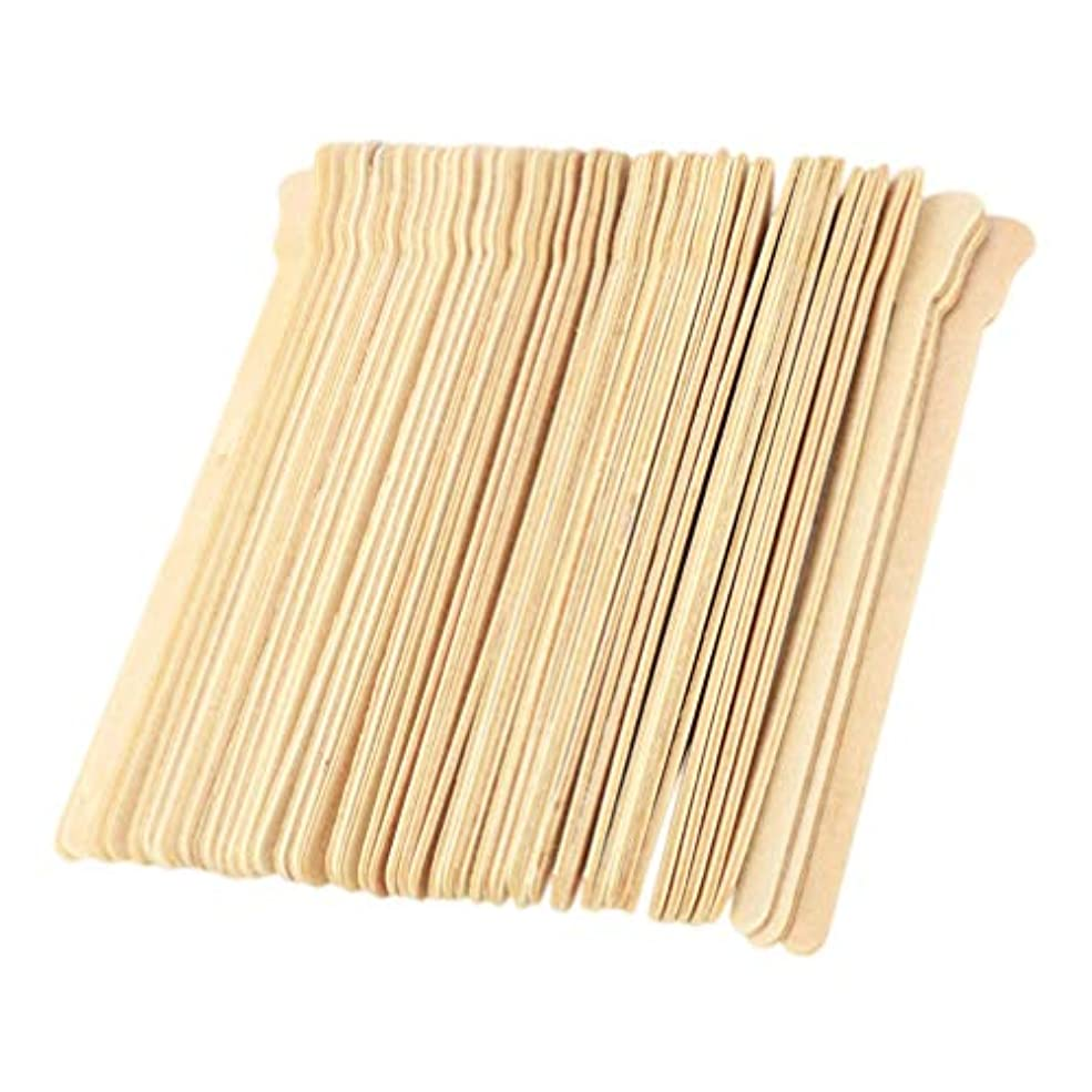目を覚ます着服範囲STOBOK 100本ワックスは使い捨てワックスヘラに学生の女の子の女性のための木製ワックスアプリケータースティックスティック
