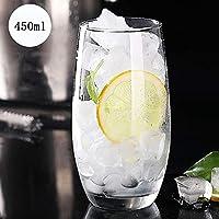 重いベース ジュース ガラス, シャンパングラス カップをバー 水のガラスを飲む ジュース ビール ワイン ウィスキーとカクテル ガラススーツ-D 450ml(15.8 oz)*6