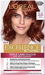 L'Oréal Paris Excellence Creme, 5.6 Rich Auburn (100 Percent Grey Cover