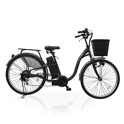 Airbike 電動アシスト自転車 26インチ トルクセンサー式 型式認定モデル 207 (ブラック)
