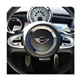 BMW MINI(ミニ) R55/R56/R57/58/60 【CLOS】クロス ステアリングサイドステッカー 2スポーク用 ブラックジャック