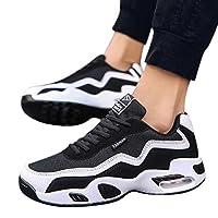 Dere (デーレ) メンズ シューズ スニーカー 靴 スポーツ ランニング ジョギング エアー 軽量 白 赤 (26.5cm, 白)