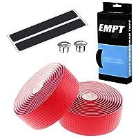 EMPT(イーエムピーティー) カーボン調ロード用 バーテープ ES-JHT020 EMPT クッション製に優れたEVA製カーボン調加工 バーテープ ロード ピスト ドロップハンドルバーテープ ※エンドキャップ、エンドテープ付属(カーボン調赤(レッド))