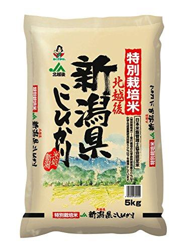新潟県産 北越後特別栽培米こしひかり 5Kg
