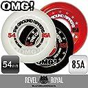 レベルロイヤル(Revel Royal) THE GROUND RIPPERS スケートボード スケボー 54mm 85A ソフトウィール ホワイト クルージング《4個1セット》