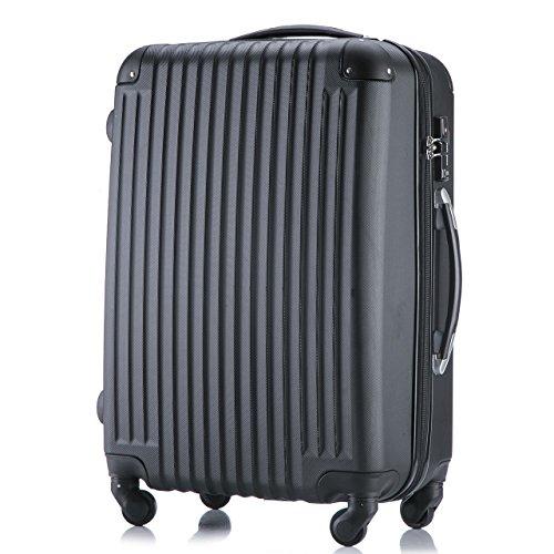 (トラベルデパート) 超軽量スーツケース TSAロック付 (Sサイズ(34L), ブラック)