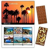 "DA CHOCOLATE キャンディ スーベニア ""カリフォルニア"" CALIFORNIA チョコレートセット 7,2×5,2一箱 (MILK Orange Cedar Mint)"