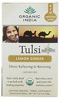 海外直送品Organic Tulasi Tea, Lemon Ginger 18 ct by Organic India