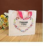 KANARIA ラッピング バッグ 手提げ / 包装 プレゼント 贈り物 品物 ギフト イベント 50枚 (ハート)