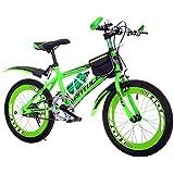 Mariny 子供の自転車6-7-8-9-10-11-12-15年の古いベビーキャリッジの男の子20/22インチの生徒のマウンテンバイク(ケトル付き) (色 : 緑, サイズ さいず : 22