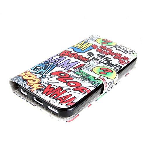"『ivencase Apple iphone 5C 専用 PU 手帳型レザーケース HAHA + ""ivencase"" 防塵プラグ』の4枚目の画像"