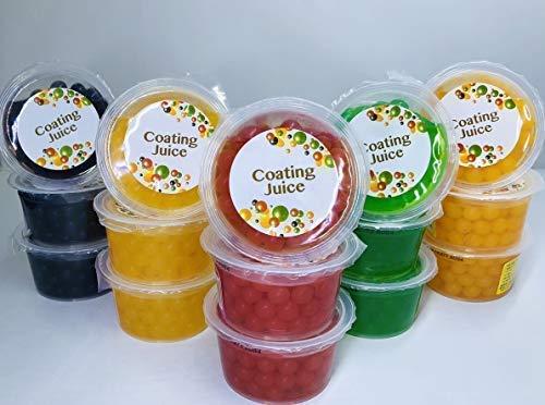 コーティングジュース5種類×3個セット(マンゴー・ピーチ・ブルーベリー・キウイ・ストロベリー)