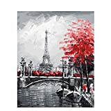 LanMent Paint by Number, DIY Paint by Number Kits for Adults Beginners Kids Teens Drawing with Brushes Canvas 16x20インチ ブルー LAN0014-07