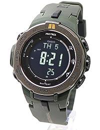 【安心2年保証】CASIO 電波 ソーラー PROTREK(プロトレック)腕時計 トリプルセンサー 小型 薄型 軽量 カーキグリーン PRW-3100Y-3 反転液晶 登山用 アウトドア スポーツウォッチ ミリタリーグリーン [並行輸入品]