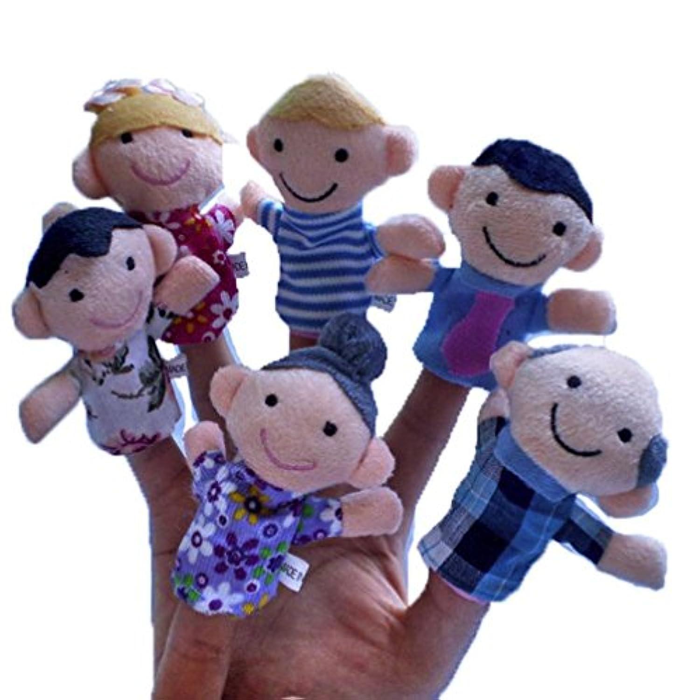 教育玩具、baomabao 6個新しいソフトFamilyメンバーPuppet Baby Finger Plush Toys