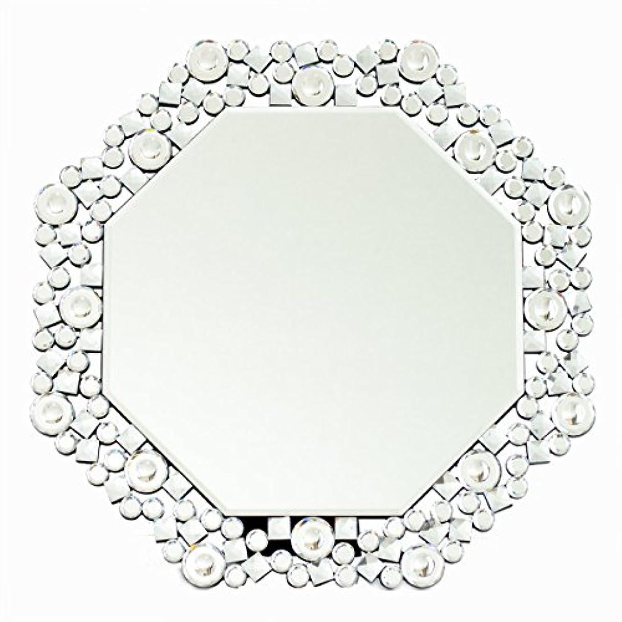 チューブ横向き断言するクロシオ テーブル ミラー 8角 Octa クリスタル 幅51.5cm 卓上ミラー 壁掛けミラー 豪華 ラグジュアリー 081016
