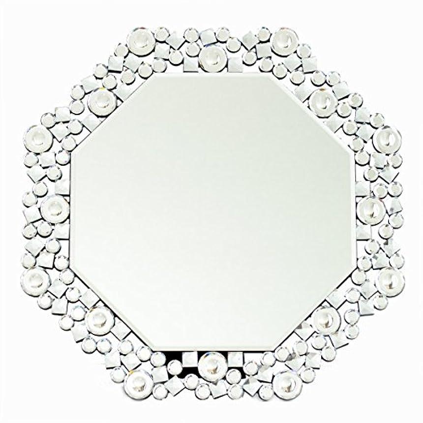 所属文化繁雑クロシオ テーブル ミラー 8角 Octa クリスタル 幅51.5cm 卓上ミラー 壁掛けミラー 豪華 ラグジュアリー 081016