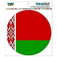 ベラルーシ国立国旗 - サークル MAG-格好いい'S(TM)カー/冷蔵庫マグネット