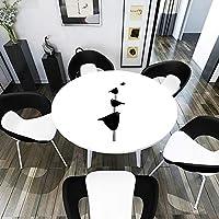 Xyanzi テーブルクロス 4小鳥漫画プリントテーブルクロス防水PVCプロテクター用テーブル/デスクテーブルパッドテーブルカバーカスタムサイズ高品質耐久性 (Color : B, Size : 140cm)
