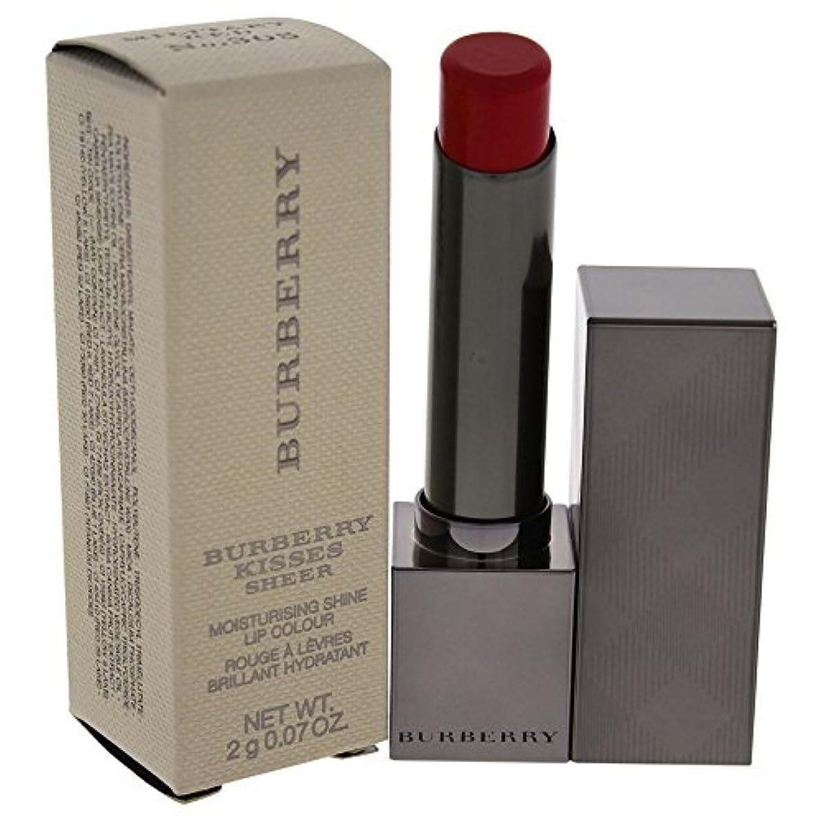 領域飾る添加剤バーバリー Burberry Kisses Sheer Moisturising Shine Lip Colour - # No. 305 Military Red 2g/0.07oz