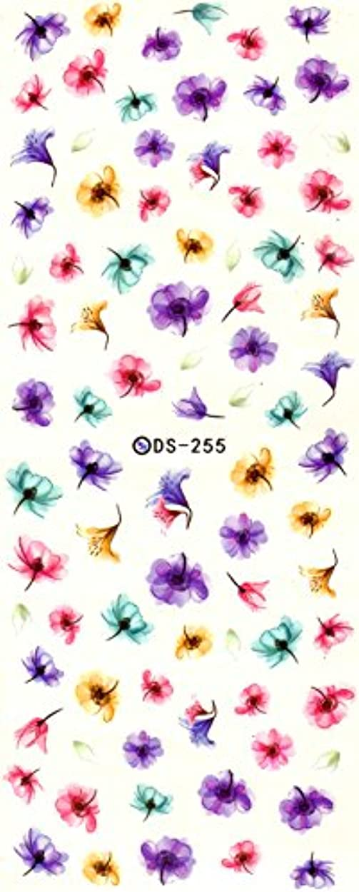 細いスポット希少性ウォーターネイルシール 水彩風 選べる20種類 極薄?重ね貼りOK (13-X29)