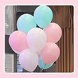 風船10インチ アソート60個 バルーン25cm誕生日パーティー結婚式文化際 飾り付け(ホワイト/ライトピンク/ミントグリーン)