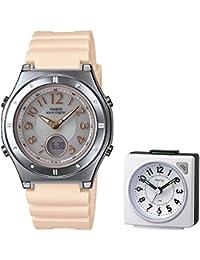 【セット】[カシオ]CASIO 腕時計 WAVECEPTOR ウェーブセプター レディース電波ソーラーウォッチ MULTIBAND6 マルチバンド6 LWA-M143-9AJF&目覚まし時計 DAILY ( デイリー ) 8REA27DN03(ホワイト)