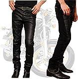 (LStage) フェイク レザーパンツ バイカー ライダー ウェア おしゃれ ブレスレット セット/ メンズ ファッション 服 パンツ 切替え スリム コーデ (31インチ) [並行輸入品]