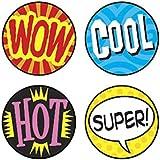 Trend Enterprises トレンド SuperSpots Stickers Wow Words 【ごほうびシール】 よくできました! (800枚入り) T-46172