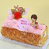 母の日ケーキ 苺 と生クリームのロールケーキ 花ママ