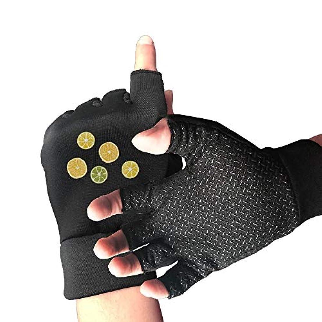 偉業把握ランタンCycling Gloves Fresh Lemon Men's/Women's Mountain Bike Gloves Half Finger Anti-Slip Motorcycle Gloves
