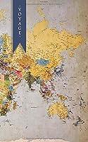 Voyage: Un carnet de notes à lignes pour vos aventures aux quatres coins du monde - Thème Carte du Monde