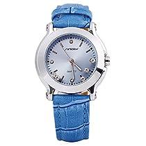 [ビンズ] BINZI 女性腕時計 文字盤 皮革 日本製クォーツ 可愛い BZG-9276 (ブルー)