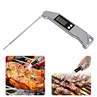 バーベキューツール - 折りたたみ式デジタル肉温度計実用的な調理食品プローブ電子バーベキュー家庭用温度 - 手袋ハンガープライム爪グリルグ