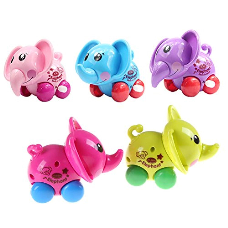 Jow動物Wind Up Toy Funny赤ちゃん動物園赤ちゃん象Clockworkばねおもちゃ