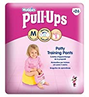 Huggies?プルUps?女の子経済パックサイズ5トイレトレーニングパンツ1×26Pack (Huggies) (x2) - Huggies? Pull-Ups? Girls Economy Pack Size 5 Potty Training Pants 1 x 26Pack (Pack of 2) [並行輸入品]