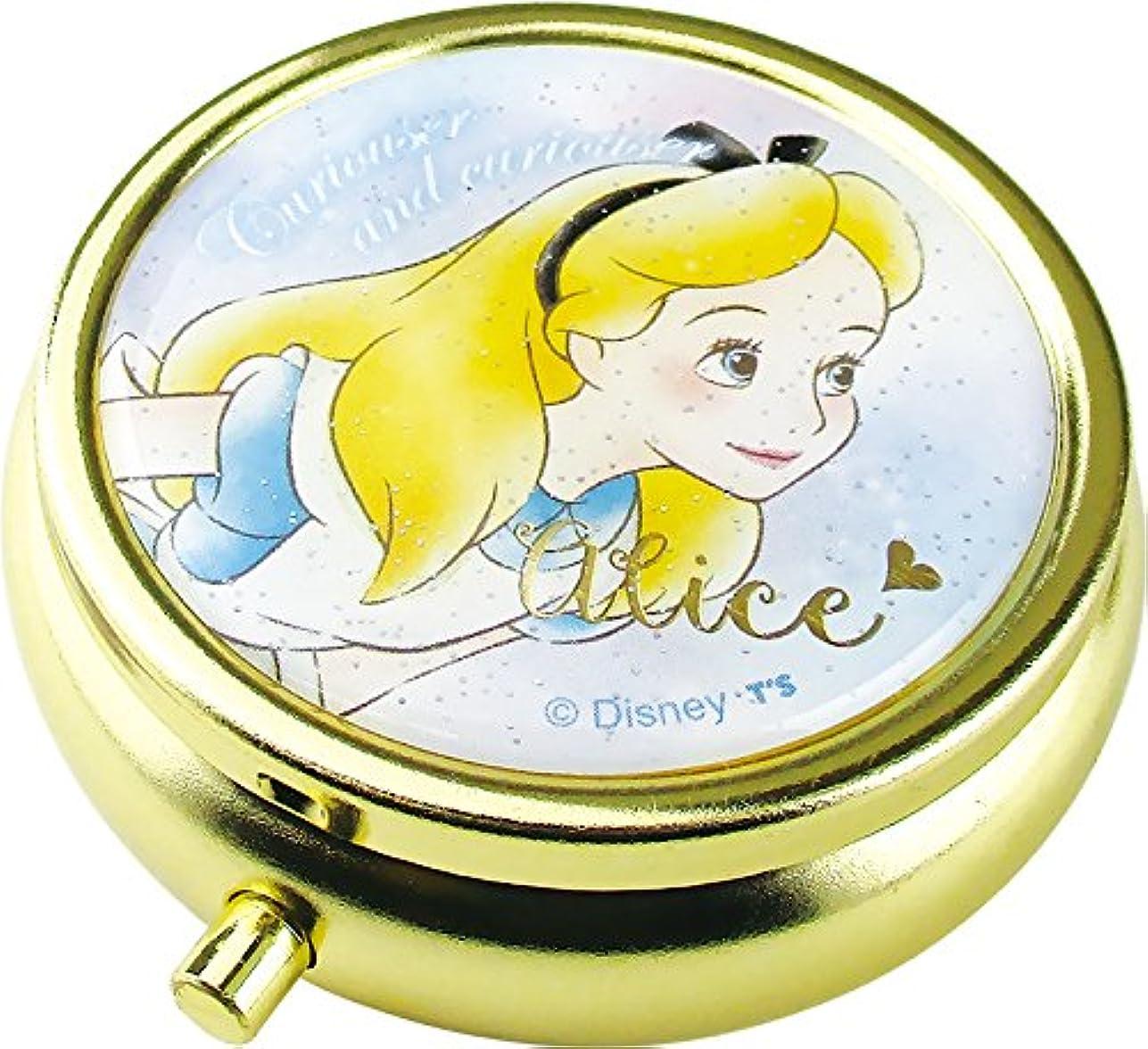 素晴らしきナビゲーションシャックルティーズファクトリー Disney アリス ミニ小物ケース ミラー、仕切り付き  ディズニー 不思議の国のアリス DN-5522314 AC 073337