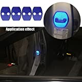 【Maidao】適合多数 トヨタ Toyota 汎用 ドア ロック ストライカー カバー Aタイプ+青色 高輝度 反射テープ 4枚 20系 アルファード ヴェルファイア 30系 プリウス ハリアー等